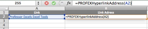 VBA, Hyperlink Address, link, address, return, excel, hyperlink