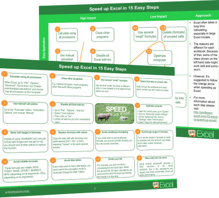 speed up, speed, performance, excel, preview, pdf, 15 steps