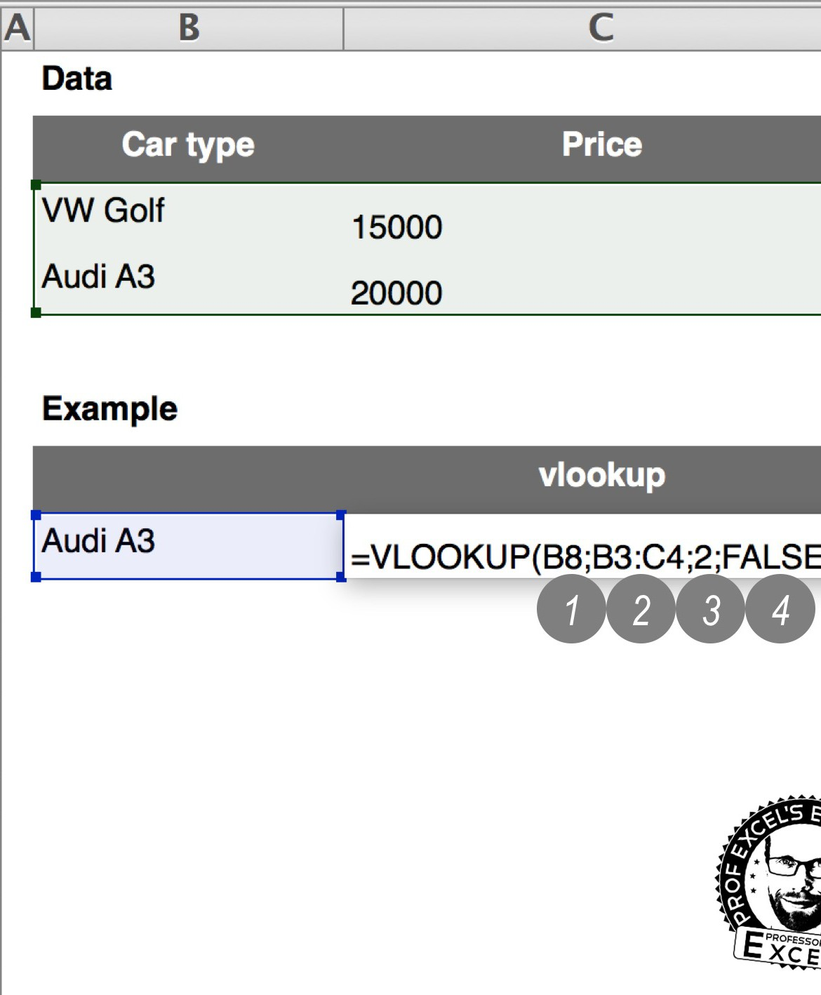 vlookup, example, explanation