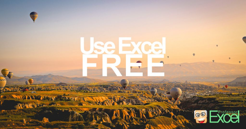 excel, free, use, no cost, microsoft, office
