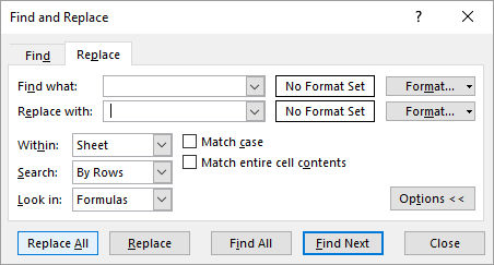 how to remove section break in excel