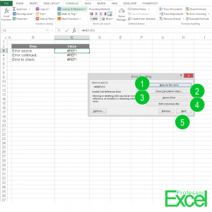 How to Solve Errors in Excel