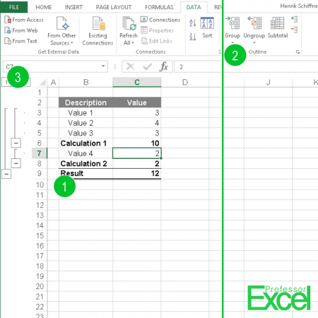grouping, rows, excel