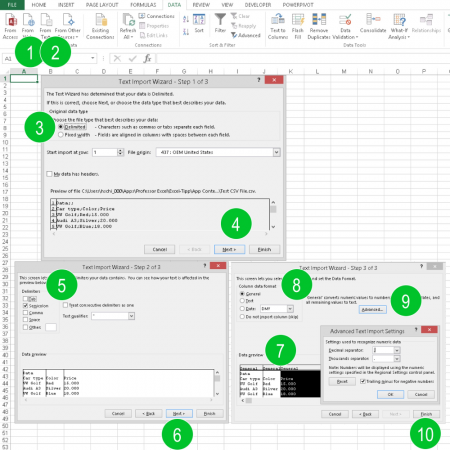 import csv, csv, import, excel, How to Import CSV Files to Excel