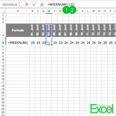 week number, week, number, excel, calendar, How to Get the Week Number