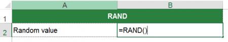 rand, random, formula, excel