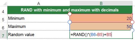 random, number, value, excel, minimum, maximum