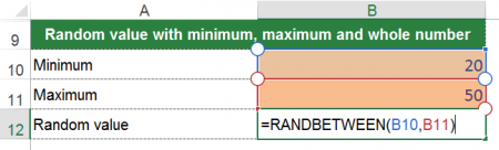 randbetween, rand, between, integer, whole number, excel
