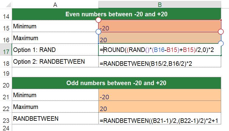 number, random, odd, even, example, minimum, maximum
