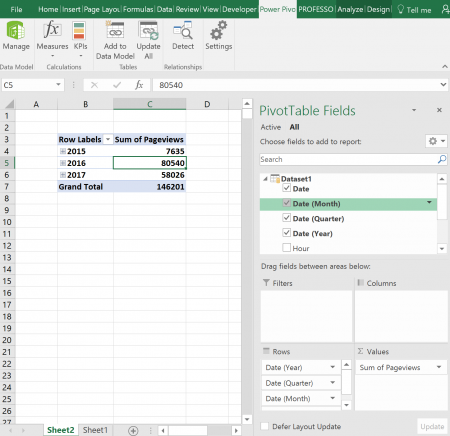 pivot, functions, powerpivot, data