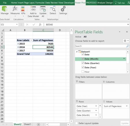 pivot, functions, powerpivot, data