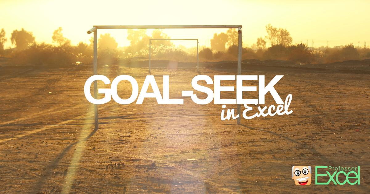 goal, seek, excel