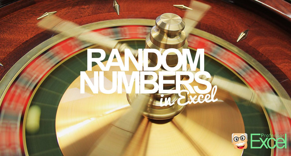 random, number, excel, how-to