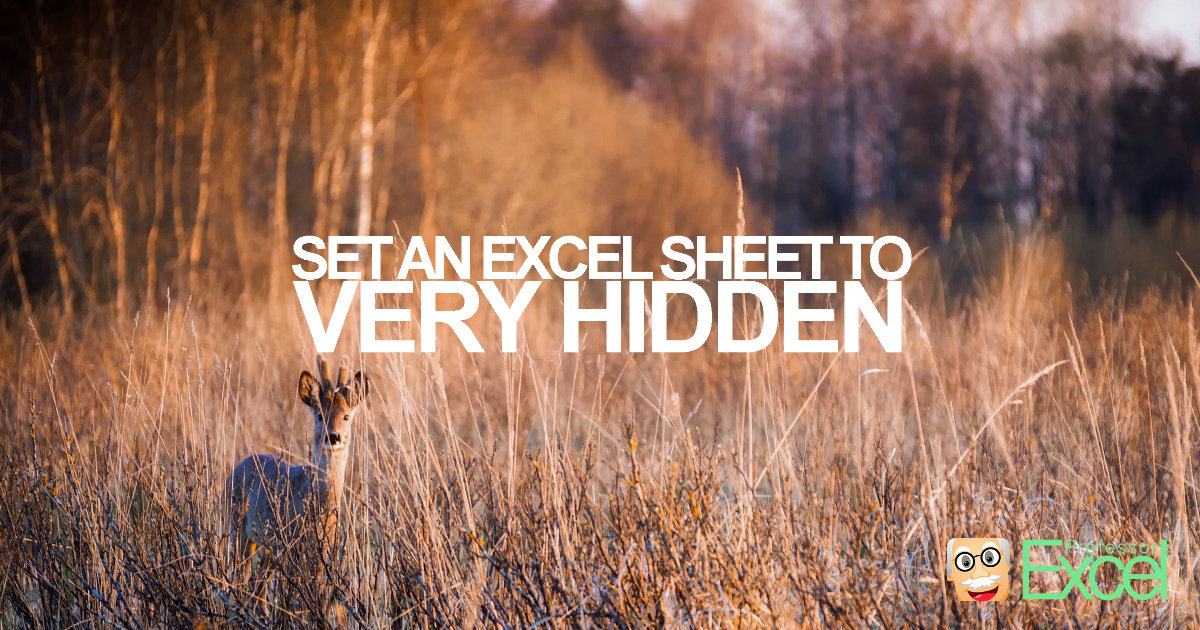 VERY HIDDEN: How to Hide an Excel Sheet.
