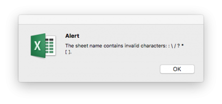 error, message, character, not allowed, excel, worksheet, name, sheet
