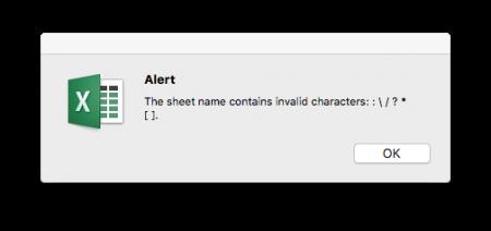 error, message, character, not allowed, excel, worksheet, name, sheet