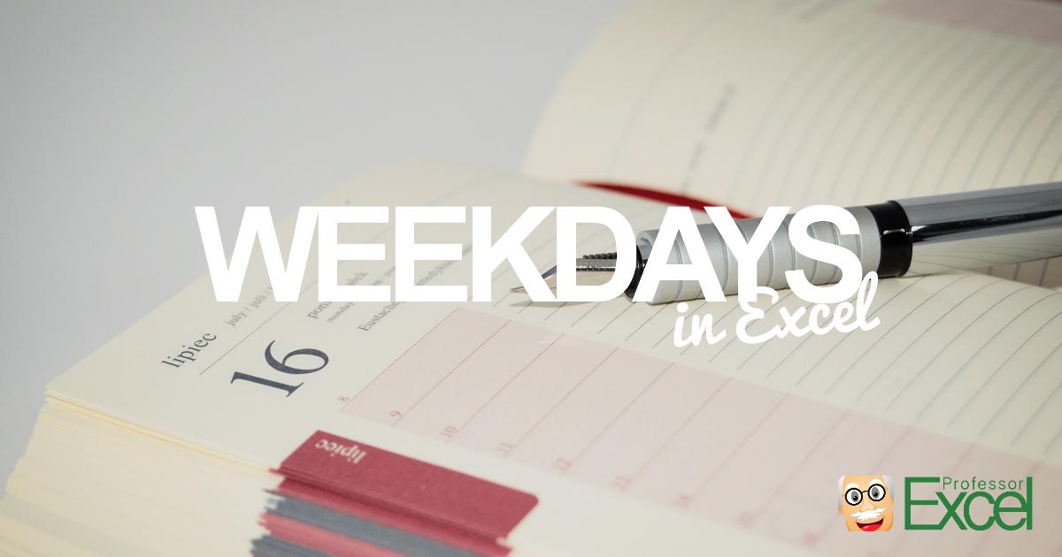 weekday, day, name, monday, sunday