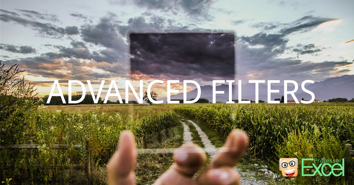 advanced, filters, excel