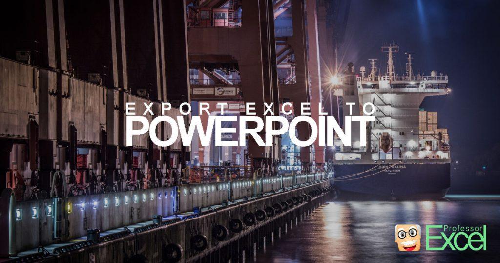 excel, powerpoint, chart, data, export, import