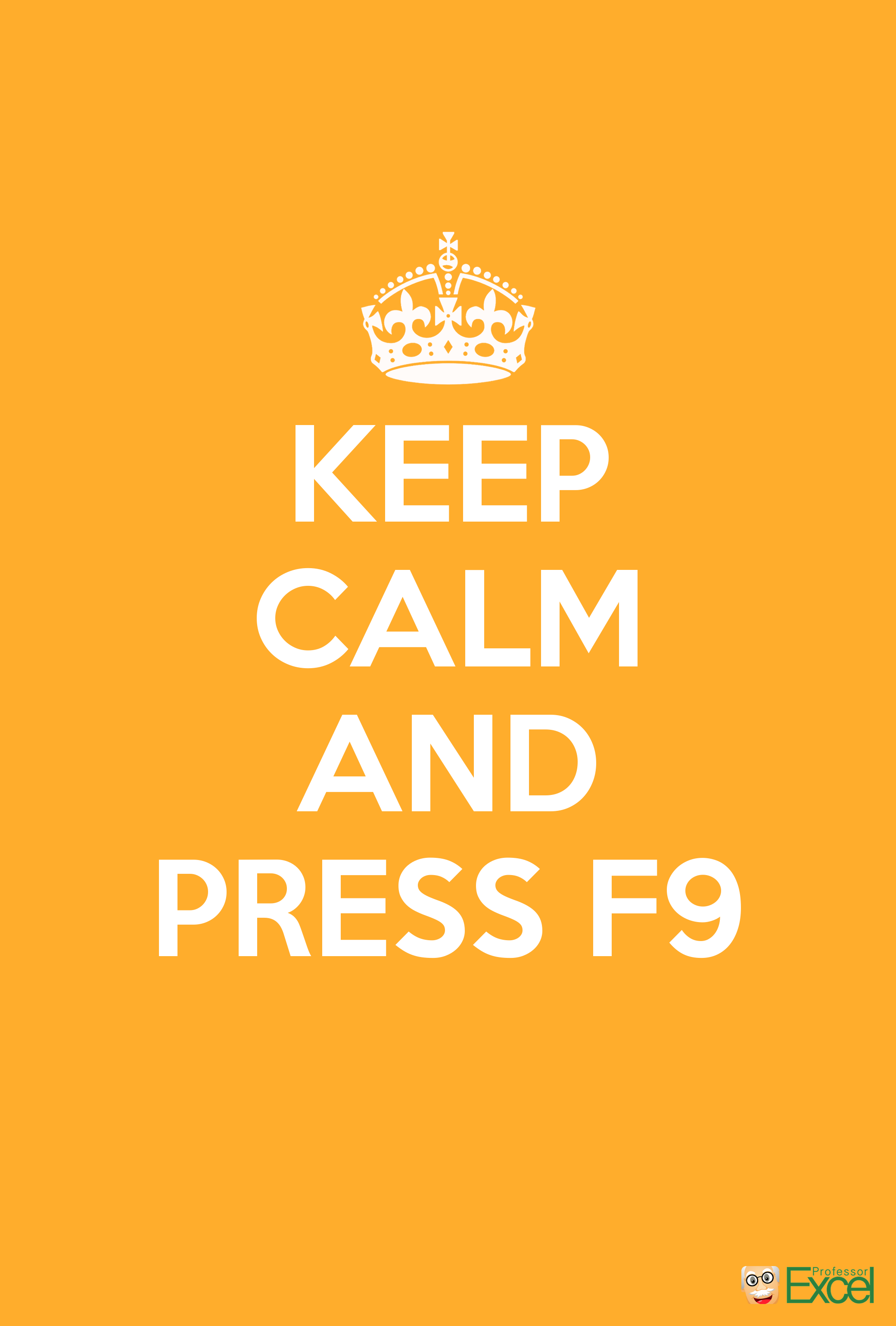 Wallpaper Mobile Excel Free Keep Calm Spreadsheet F9