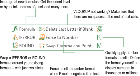quick, cell, functions, add-in, add-on, excel, professor, excel, features, tools