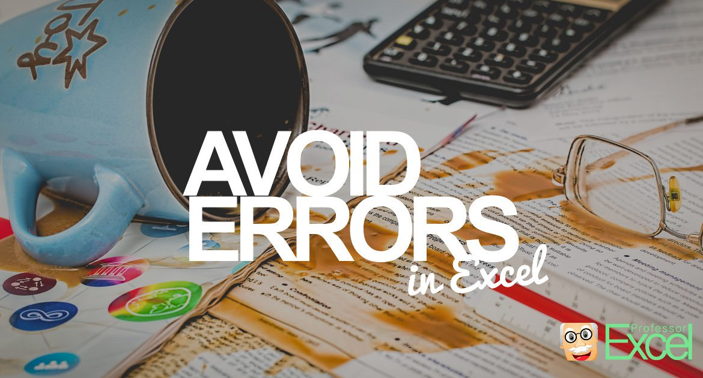 avoid, errors, excel