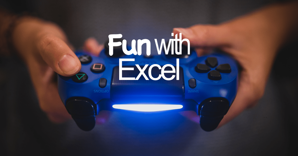 fun in excel  5 ways of fun with spreadsheets