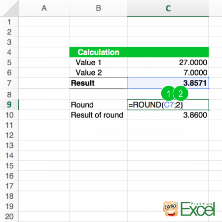 round, formula, roundup, rounddown, steps, excel