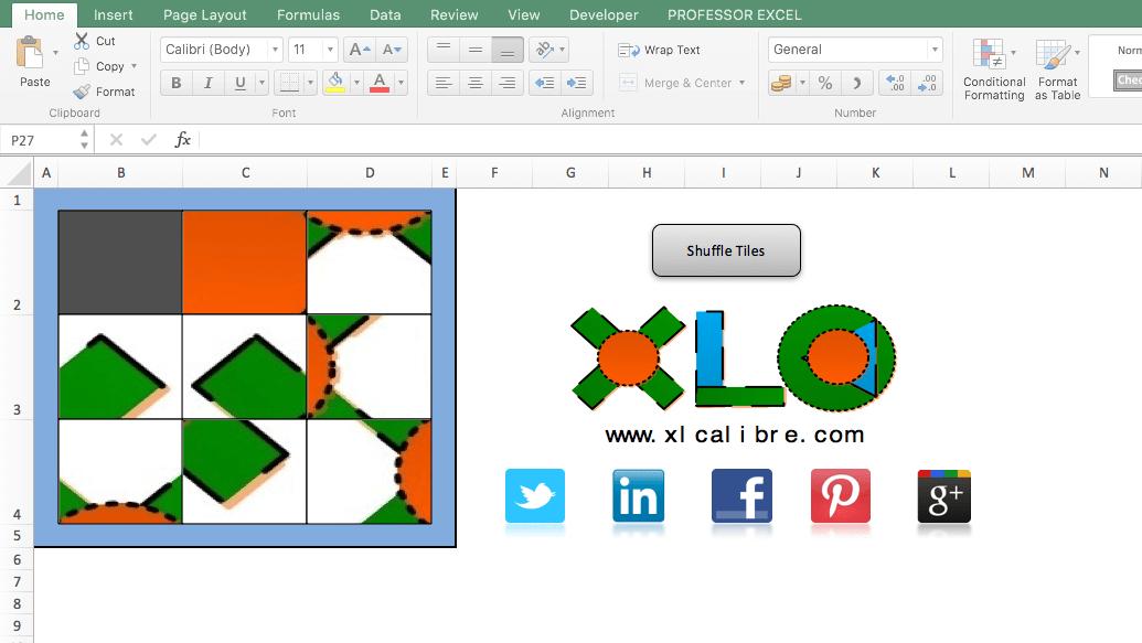 slide, puzzle, excel