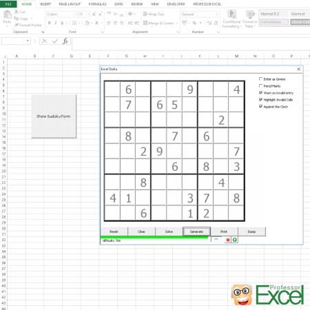 sudoku, excel, play, solve, fun
