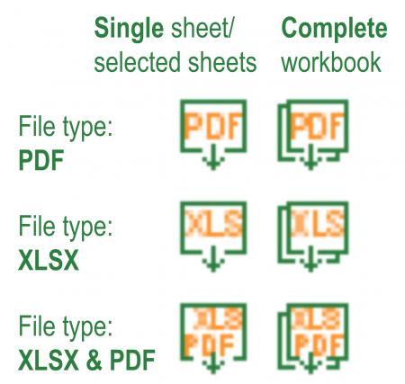Professor, Excel, Tools, saving, sharing, one-click, button, pdf, excel, xlsx