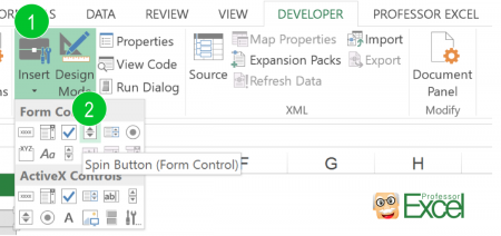 insert, button, excel, form, control
