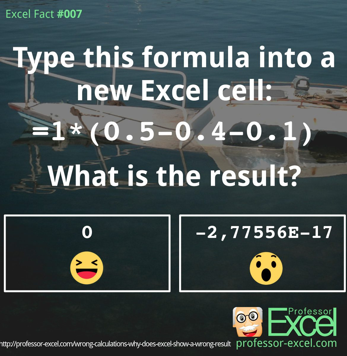 excel, excel fact, fact, wrong, result, calculate, calculation, error, mistake