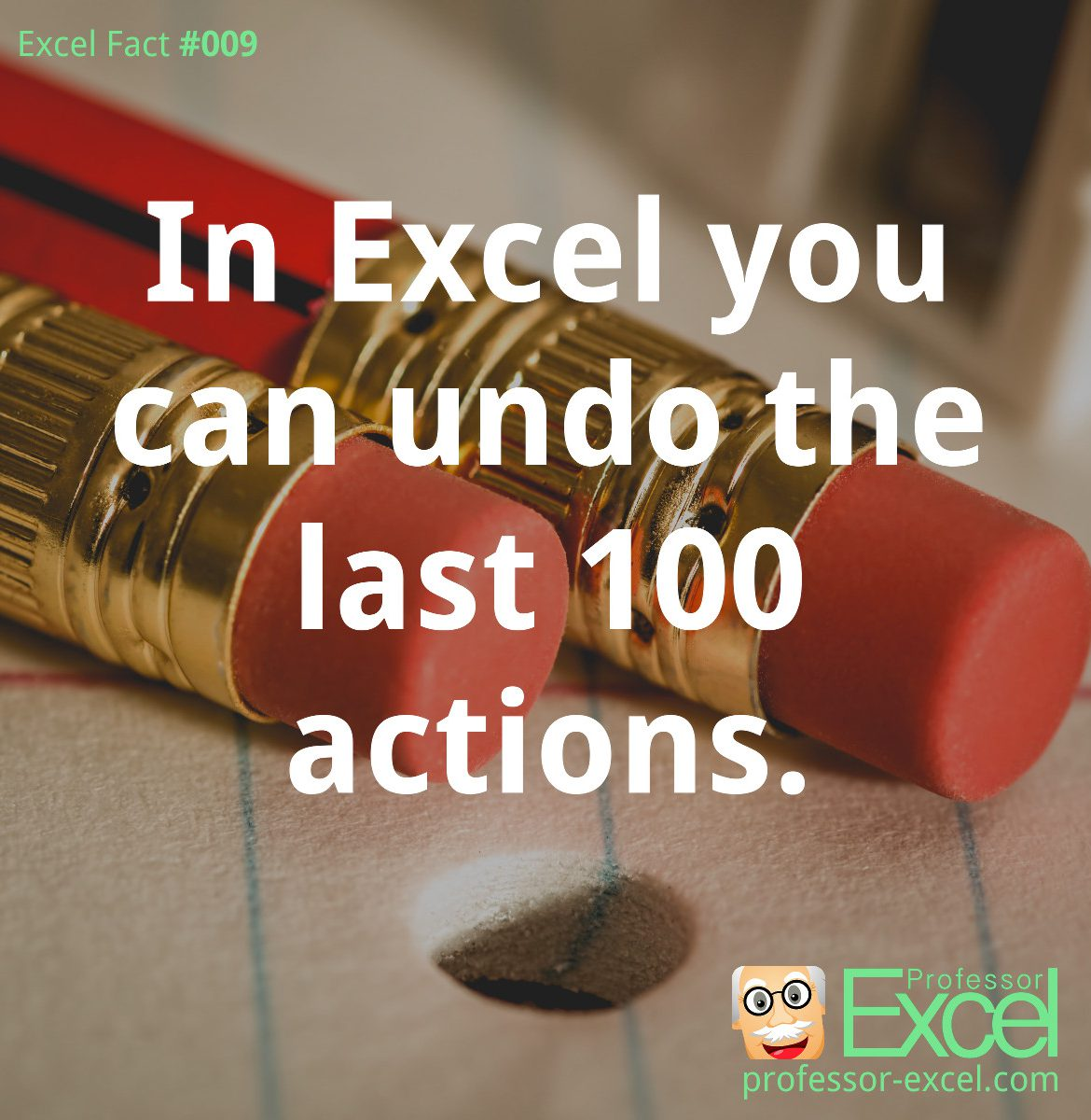 excel, excel fact, fact, undo, actions, number