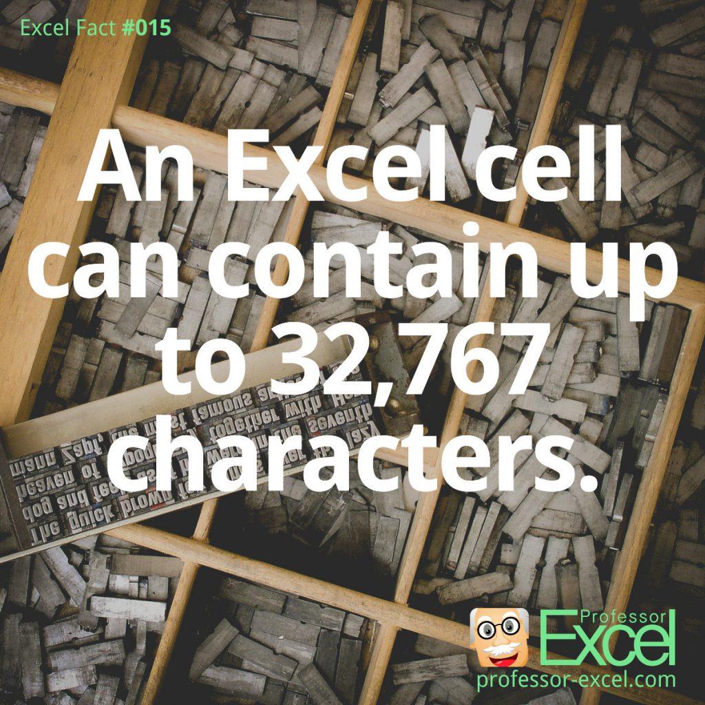 Excel Facts | Professor Excel | Professor Excel
