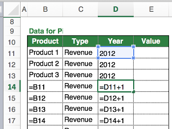 pivot, create, structure, data, excel, example