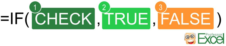 if, formula, excel, structure, parts, true, false