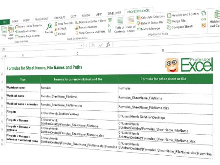 download, excel, formulas, cell, file name, sheet name, path