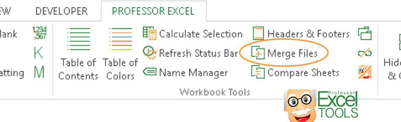 merge, files, professor, excel, tools, join, worksheets