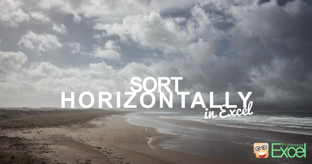 sort, horizontally, horizon, left to right, left, right, sorting, excel