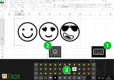 emoji, emojis, windows 8, windows 10, keyboard, excel, insert