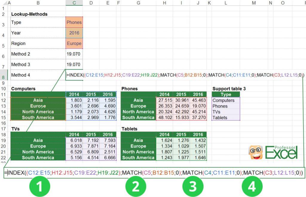 index, match, 3d lookup, 3way lookup