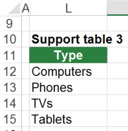 support table, excel, 3d lookups, 3d, 3way
