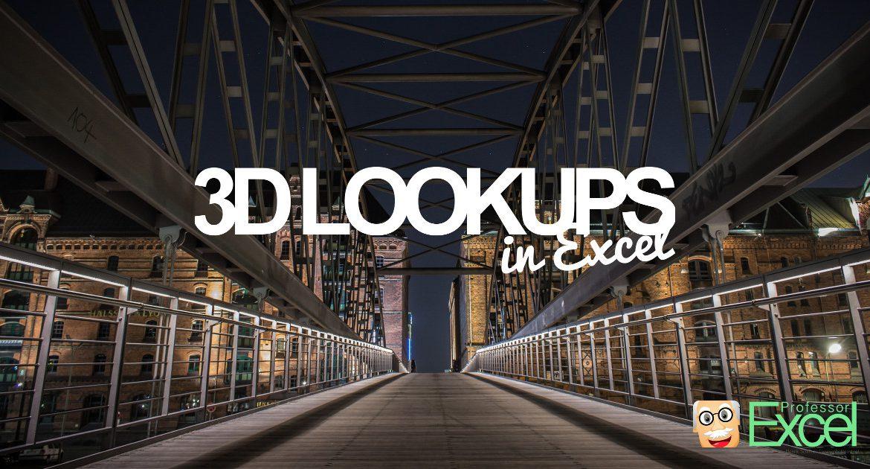 3d, 3 way, lookups, 3d lookups, excel