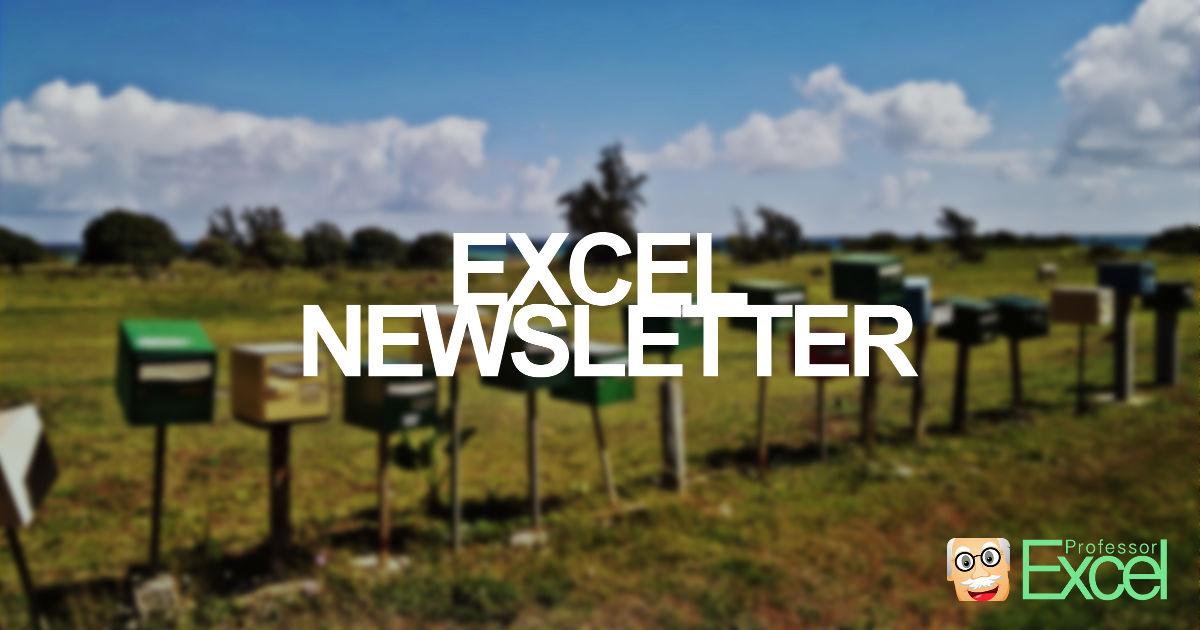 newsletter, excel, mail, free, xls, xlsx, microsoft