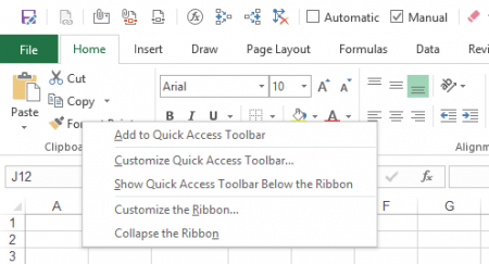 how to add pens to quick access toolbar