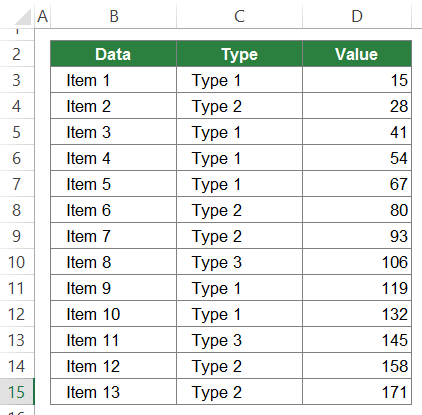 SUBTOTAL, data, Excel