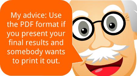 pdf, advice