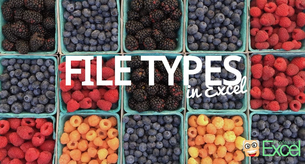 File Types in Excel: When to use XLSX, XLSM, XLSB, XLS etc