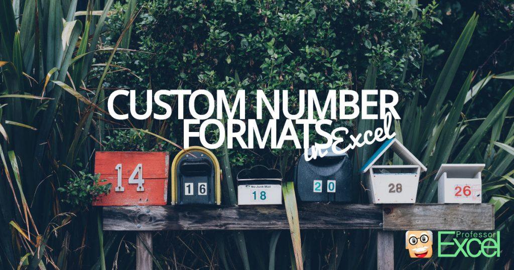 custom, number, format, excel